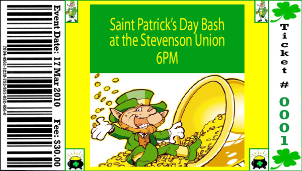 St. Patrick's Day Ticket One